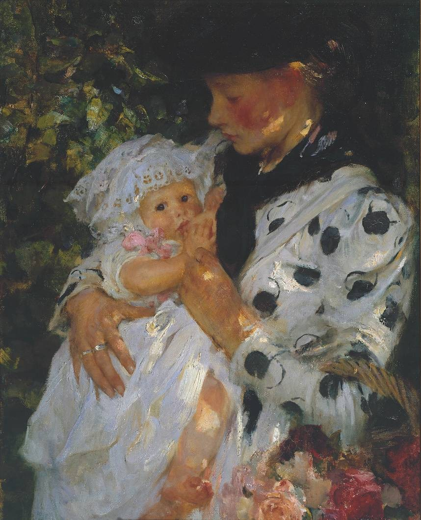 The Flower Girl, Sir James Jebusa Shannon - 1900